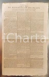 1796 LE REPUBLICAIN FRANCAIS Gazette REVOLUTION N° 1295 Nouvelles d'Italie