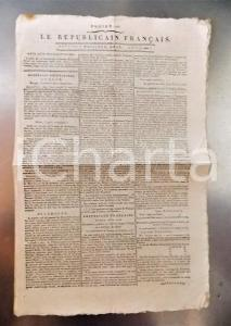 1796 LE REPUBLICAIN FRANCAIS Gazette REVOLUTION n° 1294 Armée d'Italie