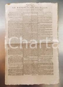 1796 LE REPUBLICAIN FRANCAIS Gazette REVOLUTION n° 1295 Nouveau tarif des postes