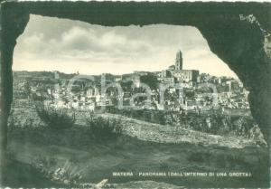 1949 MATERA Panorama dall'interno di una grotta *Cartolina postale FG VG