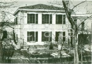1950 ca FORLÌ Scuole elementari di SAN LORENZO IN NOCETO Cartolina postale FG NV