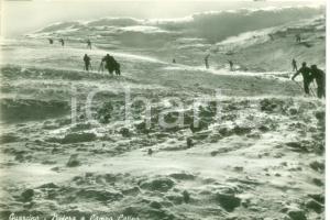 1955 GUARCINO (FR) Sciatori nella bufera a Campo CATINO *Cartolina FG NV