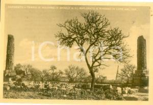 1934 AGRIGENTO Tempio di VULCANO dopo gli scavi archeologici *Cartolina FG NV