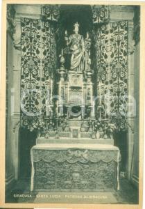 1941 SIRACUSA Statua di Santa Lucia patrona della città *Cartolina FG NV