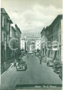 1958 AREZZO Automobili in Via Guido MONACO *Cartolina FG VG
