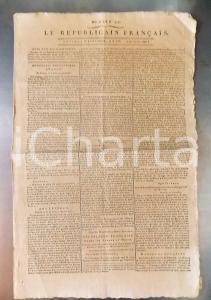 1796 LE REPUBLICAIN FRANCAIS Gazette REVOLUTION n° 1296 Armée SAMBRE et MEUSE