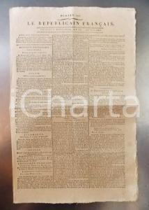 1796 LE REPUBLICAIN FRANCAIS Gazette REVOLUTION n° 1297 Armée RHIN et MOSELLE