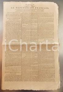 1796 LE REPUBLICAIN FRANCAIS Gazette REVOLUTION n° 1298 Armée RHIN et MOSELLE