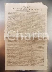 1796 LE REPUBLICAIN FRANCAIS Gazette REVOLUTION n° 1299 Armée RHIN et MOSELLE