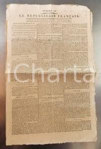 1796 LE REPUBLICAIN FRANCAIS Gazette REVOLUTION n° 1300 Manuel révolutionnaire