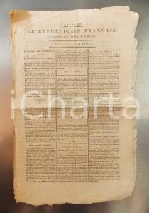 1795 LE REPUBLICAIN FRANCAIS Gazette REVOLUTION n° 992 L'acte constitutionnel