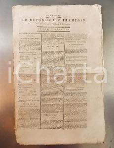1795 LE REPUBLICAIN FRANCAIS Gazette REVOLUTION n° 965 Contribution mobiliaire