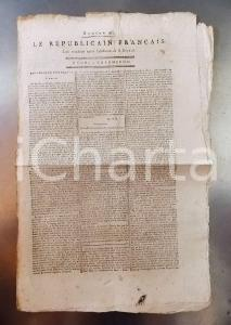1795 LE REPUBLICAIN FRANCAIS Gazette REVOLUTION n° 965 L'acte constitutionnel