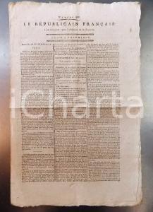 1795 LE REPUBLICAIN FRANCAIS Gazette REVOLUTION n° 966 L'acte constitutionnel