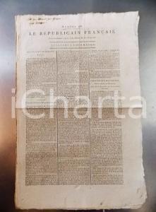1795 LE REPUBLICAIN FRANCAIS Gazette REVOLUTION n° 968 Evénements AURAI QUIBERON