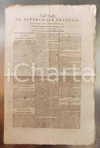 1795 LE REPUBLICAIN FRANCAIS Gazette REVOLUTION n° 969 A Charles HIS