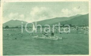 1946 FORTE DEI MARMI (LU) Turisti sul pedalò al largo *Cartolina FP VG