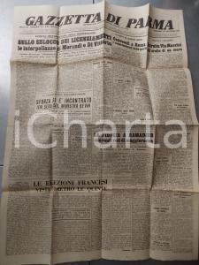 1947 GAZZETTA DI PARMA MORANDI e DI VITTORIO sui licenziamenti *Anno 212 n° 302