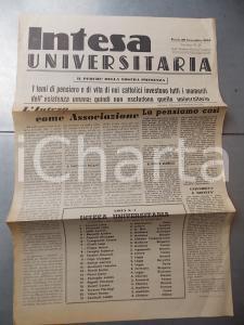 1955 PAVIA INTESA UNIVERSITARIA I cattolici nel momento universitario n° 18