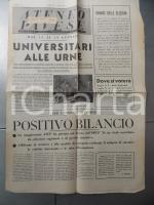 1957 ATENEO PAVESE Universitari alle urne *Mensile dell'ORUP n° 7