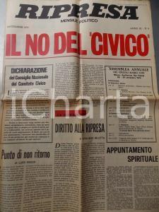 1974 RIPRESA Il NO del Comitato Civico *Mensile politico anno III n° 8