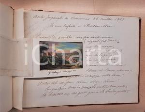 1890 ca VINCENNES Louis-Jules REBOUL DE LA JUILLIERE Album manoscritto 100 pp.