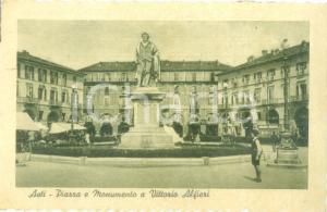 1950 ASTI Piazza Monumento a Vittorio ALFIERI *Cartolina FP VG