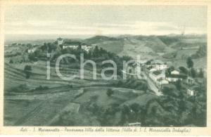 1930 ca ASTI Panorama Villa della Vittoria a SAN MARZANOTTO *Cartolina FP NV