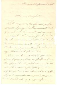 1876 ROMA Tutto mi urta e sto chiuso nel mio ufficio *Lettera Gustavo MINELLI