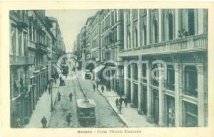1935 ca ANCONA Tram in Corso Vittorio Emanuele *Cartolina FP NV