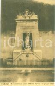 1914 VICENZA Monumento ai Caduti a Monte BERICO *Cartolina FP VG