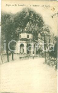 1920 PORRETTA TERME (BO) La Madonna del Ponte *Cartolina ANIMATA FP VG