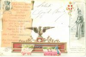 1900 ca 6° Reggimento Lancieri AOSTA Umberto di SAVOIA *Cartolina FP VG