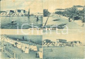 1956 GATTEO A MARE (FC) Vedutine spiagge Viale RUBICONE *Cartolina FG VG