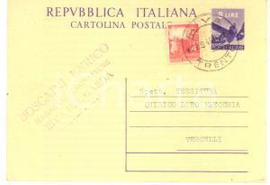 1948 RIVA DEL GARDA Enrico BOSCAINI Magazzini Manifatture *Cartolina postale FG