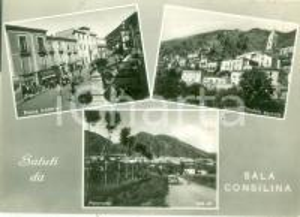 1969 SALA CONSILINA (SA) Vedutine Piazza UMBERTO I Panorama Cartolina FG VG