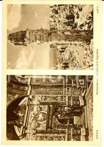 1945 ca ABBAZIA MONTECASSINO Portale della Sagrestia distrutto *Cartolina