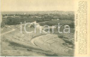 1930 ca SIRACUSA Veduta aerea del teatro Greco *Cartolina FP NV