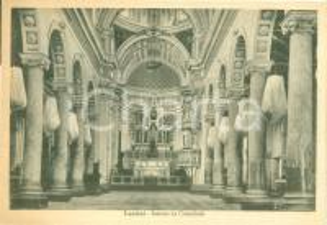 1940 ca LENTINI (SR) Veduta dell'interno dell'ex Cattedrale *Cartolina FG NV