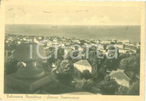 1950 ca FALCONARA MARITTIMA (AN) Scorcio panoramico con il mare *Cartolina FG VG