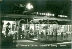 1961 MARINA DI CARRARA (MS) Notturno al Dancing VENEZIA *Cartolina FG VG