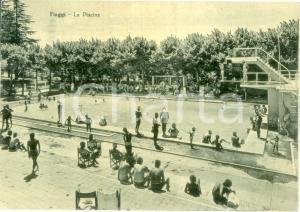 1962 FIUGGI (FR) Bagnanti affollano la piscina *Cartolina FG VG