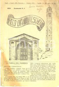 1951 L'ECO DI MONTESCHENO Sull'asilo infantile BALDI *Giornale n° 1 DANNEGGIATO