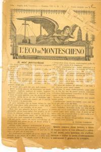 1931 L'ECO DI MONTESCHENO Notizie religiose *Anno IX n° 1 DANNEGGIATO