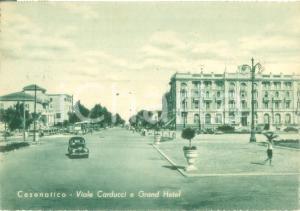 1953 CESENATICO (FC) Viale Carducci e Grand Hotel *Cartolina FG VG