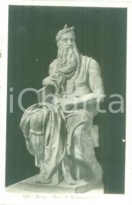 1935 ca ROMA Statua del Mosè di MICHELANGELO *Cartolina FP NV