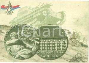 1940 ca 4° REGGIMENTO FANTERIA CARRISTA *Cartolina reggimentale ILLUSTRATA FG NV