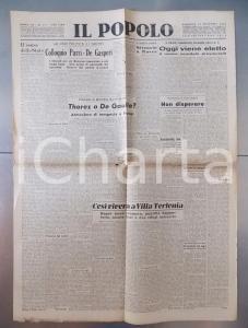 Novembre 1945 IL POPOLO Come viveva Mussolini a Villa Torlonia *Giornale DC