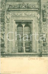 1915 ca CERTOSA DI PAVIA Una finestra della facciata Liquori GRA CAR Cartolina