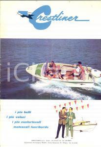 1975 ca CRESTLINER Motoscafi deluxe *Opuscolo turistico ILLUSTRATO